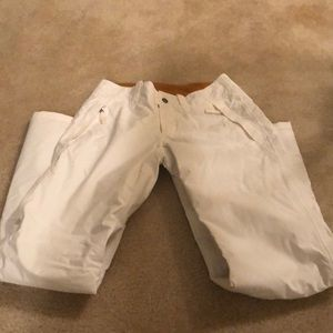 North Face white ski pants